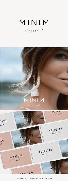 Minim // A clean, modern minimalist logo design // by StoriesDesignStudio