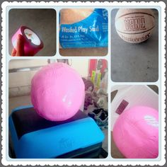 Just started doing my workouts at home and needed a 20lb weighted ball, so I made one. Perfect DIY for less than $8 and it only took less than an hour. All Things Used are in the picture.  FYI: the lowest price I could find for a medicine/plyo slam ball was $40 bucks for 20lbs, plus shipping. I'd say this was an awesome DIY!