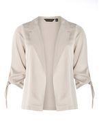 Womens Grey Tie Sleeve Jacket- Grey