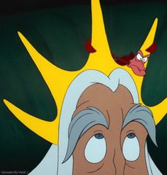 King Triton and Sebastian - The Little Mermaid