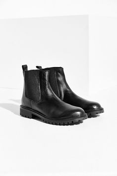 $89.00  Silence + Noise Treaded Leather Ankle Boot - Urban Outfitters