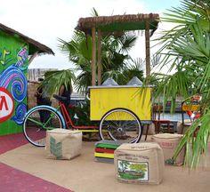 Lors de la coupe du monde de Football au Brésil, KIA automobiles a demandé à LILOKAWA de lui concevoir du mobilier avec de la toile de jute en provenance du Brésil.