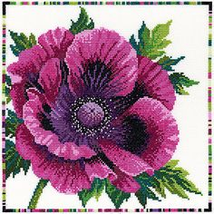My Mother's Day ideas: Bothy Threads purple poppy cross stitch kit #johnlewis #home #mothersday #askourmums