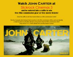 Voucher for John Carter screening in Moab, UT.