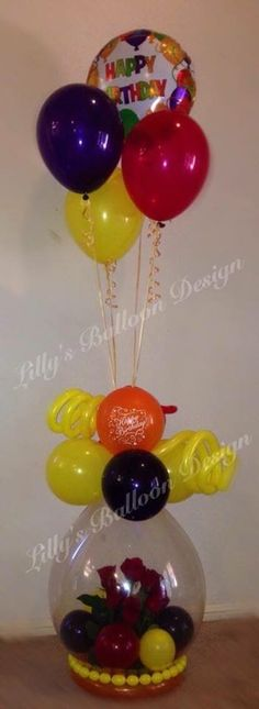 Gift in a balloon, stuffed balloon, roses in a balloon