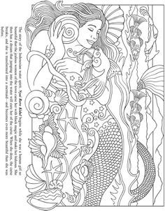 Eos Greek Sky goddess challenging coloring pages for adults ...