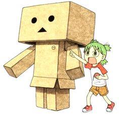 Yotsuba Koiwai and her trusty (and imaginary) robot, Danbo.