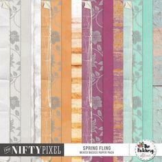 SPRING FLING | Mixed Basics Paper Pack These papers are ideal for all your scrapbooking needs. The pack includes 4 creased and grungy edged papers in solid colours. 4 slightly grungy solids that appear to have water stains on them. 4 Vellum style floral papers and lastly 4 stylised woodgrain effect papers. Making this pack a very versatile mix of 12X12 backgrounds.  DOWNLOAD INCLUDES:  16X Papers (folded, torn, solids, vellums and woodgrain) All products are saved at 300ppi for optimum…