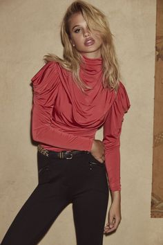 ab016366c7984 Bisou Bisou Tops · Did someone say tango? The Sophie top in Tango Crimson.  Sophisticated and sexy.