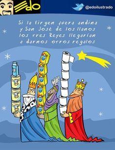 Edo: Los Reyes Magos y Venezuela http://shar.es/1Hl2fO #Venezuela #Caricatura