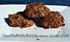 Peanut Butter Chocolate Chip Quinoa Breakfast Cookies