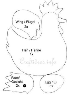 Hen and Eggs Template