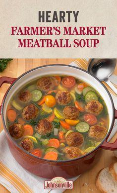 J Belle, Sopa...   Hearty Farmer's Market Meatball Soup