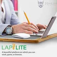 Online order laptop bamboo lap desk with aluminium mouse pad. This is highly convenient while travelling and works with any iphone, macbook and ipad. Lap Desk, Macbook Air Pro, Desktop Accessories, Notebook Laptop, Ipad Mini, Iphone, Cool Stuff, Games, Platform