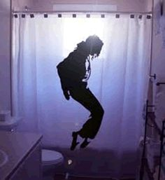 MJ shower curtain!!!!  How cool is that?