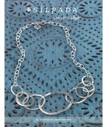 Love this necklace...I like that the circles aren't perfect. This could be worn with anything.