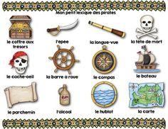FRENCH/Les mots de vocabulaire LES PIRATES/24 affiches