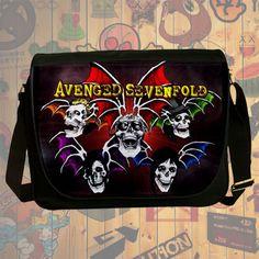 NEW HOT!!! Avenged Sevenfold Messenger Bag, Laptop Bag, School Bag, Sling Bag for Gifts & Fans #01