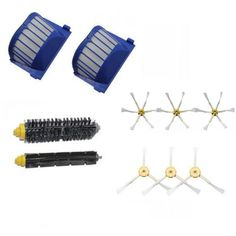10.74$ (More info here: http://www.daitingtoday.com/2-blue-aerovac-filter-1-set-main-brush-kit-6-side-brush-for-irobot-roomba-600-series-620-630-650-660-accessory ) 2 Blue AeroVac Filter + 1 set main Brush kit +6 side brush for iRobot Roomba 600 Series 620 630 650 660 Accessory for just 10.74$