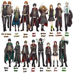 Livro Nas Mãos: Harry Potter - Versão Anime