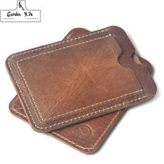 Crazy Horse Cowhide Leather Credit Card Holder Genuine Leather ID Card Holders Men Business ID Wallet Slim Wallet for boyfriend