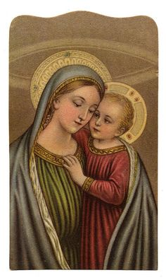 Estampitas Religiosas y Recordatorios Vintage Holy Cards, Vintage Images, Santa Maria, Religion Catolica, Old Cards, Blessed Mother Mary, Madonna And Child, Religious Art, Virgin Mary