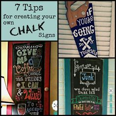 7 tips for creating your own chalkboard signs -- by Unique Junktique