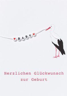 Geburts Perlen Karte HERZLICHEN GLÜCKWUNSCH ZUR GEBURT von Räder
