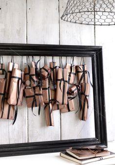 Creative Ideas for Advent Calendars, frame display