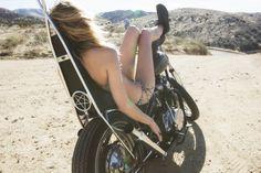 Jason Lee Parry Abby Brothers for Tavik Swimwear Biker T-shirts, Lady Biker, Biker Girl, Harley Davidson Street, Harley Davidson News, Motard Sexy, Jason Lee, Diesel, Motorcycle Girls
