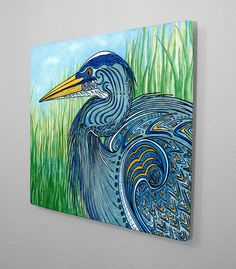 Items similar to Great Blue Heron Wall Art Aluminum Ready to Hang on Etsy