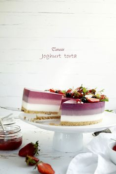 3 színű joghurt torta - Szotyi művek Mousse Cake, Panna Cotta, Cake Recipes, Cooking Recipes, Sweets, Cookies, Ethnic Recipes, Celebration, Food