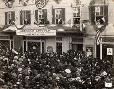 Abraham Lincoln's visit to Lancaster city and the former Caldwell House on Feb. 22, 1861, was re-enacted in 1911.