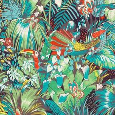 regram @matthewwilliamson Time to make some tropical cushions in my Jungle Beat print for @osborneandlittle #prints #toucan