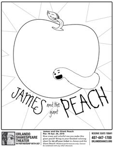 James And The Giant Peach Colouring Page Happy Roald Dahl Day Characters
