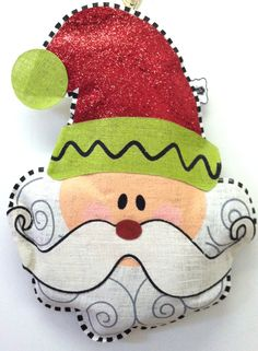 Santa 3D burlap stuffed wall hanging  $37