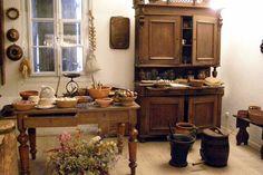 skansen wnętrza dworku kuchnia