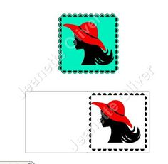 Silhouette Lady with Hat SVG STUDIO on Craftsuprint - Add To Basket!