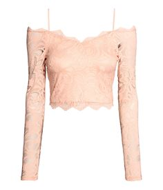 Lace Crop Top | Party in H&M