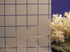 Small White Squares Decorative Window Film