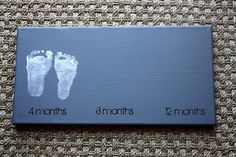 Awesome idea: baby's footprints as nursery art. I love baby feet. Do It Yourself Baby, Foto Baby, Baby Footprints, Baby Center, Everything Baby, Baby Time, Baby Crafts, Baby Pictures, Cute Kids