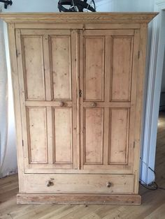 European antique Pine Armoire