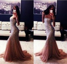 Idk why she's posing like that lol but the dress is stunning