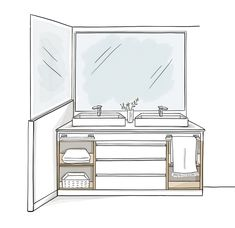 Double Vanity, Bathroom, Loft, Bathroom Furniture, White Shower, Master Bathrooms, Shower Bathroom, Wash Hand Basin, Showers
