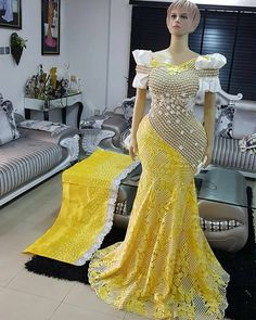 Latest Aso Ebi Styles Collection Hello ladies and gents, today we are unve. by laviye : Latest Aso Ebi Styles Collection Hello ladies and gents, today we are unve. African Lace Styles, African Lace Dresses, African Wedding Dress, African Dresses For Women, African Fashion Dresses, African Attire, African Wear, Fashion Outfits, Ghanaian Fashion