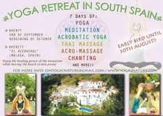 Meditation and Yoga Retreat in South Spain at Andalusia Spain