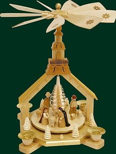 Natural German Church Nativity Christmas Pyramid >>> You can get more details by clicking on the image. (This is an affiliate link) #CollectibleFigurines