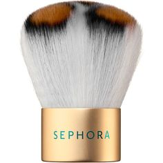 SEPHORA COLLECTION Wild Thing Kabuki Brush ($7) ❤ liked on Polyvore featuring beauty products, makeup, makeup tools, makeup brushes, beauty, makeup brush and sephora collection