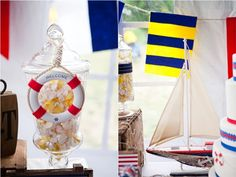 Nautical Party: use the nautical flag for C (Charlie) as the symbol