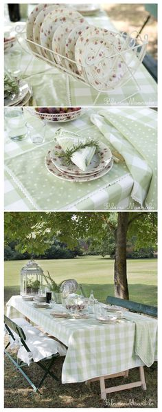 color garden table blanc mariclo, a party under the tree